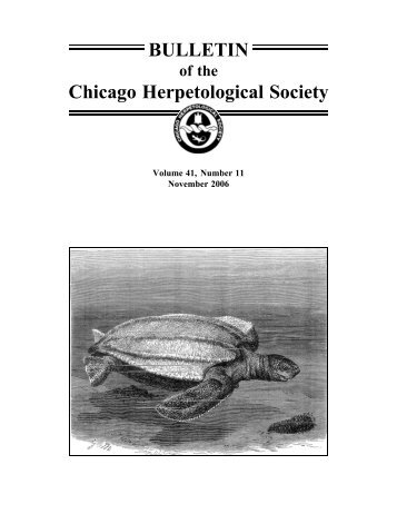 November - Chicago Herpetological Society