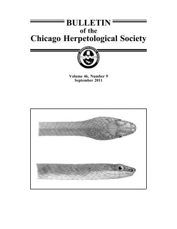 September - Chicago Herpetological Society