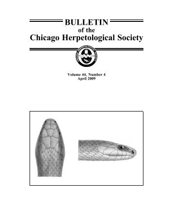 April - Chicago Herpetological Society