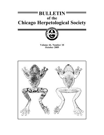 October - Chicago Herpetological Society