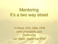 Mentoring It's a two way street