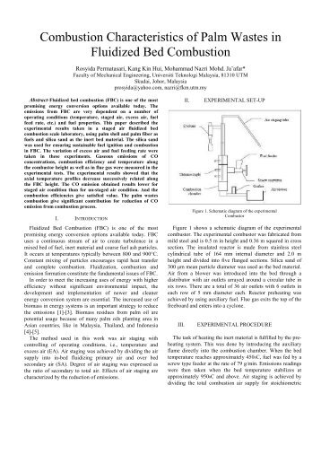 Combustion Characteristics of Palm Wastes in Fluidized ... - Eeeic.eu