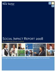2008 Social Impact Report - New Sector Alliance