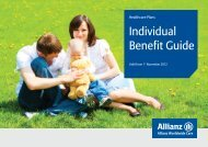 Individual Benefit Guide (IBG) - Allianz Worldwide Care