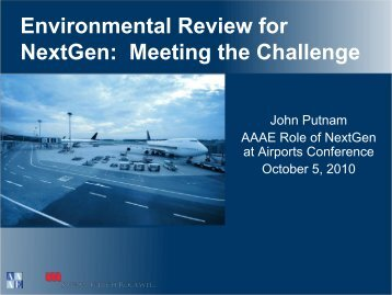 Environmental Review for NextGen: Meeting the Challenge
