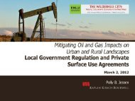 Mitigating Oil and Gas Impacts on Urban and Rural Landscapes