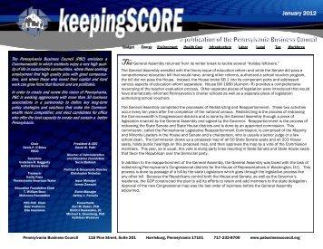 keepingSCORE January 2012 - BIPAC