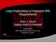 Legal Implications of Proposed SMS Requirements - Kaplan Kirsch ...