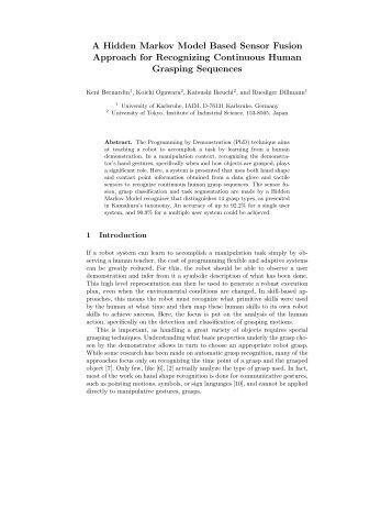 A Hidden Markov Model Based Sensor Fusion Approach for ...