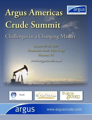 Argus Americas Crude Summit Argus Americas ... - Argus Media