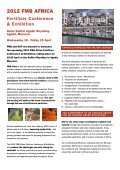 2012 FMB AFRICA Fertilizer Conference & Exhibition ... - Argus Media - Page 2