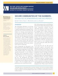 secure communities by the numbers - Hans & Tamar Oppenheimer ...