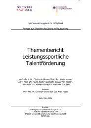 Sportentwicklungsbericht - Der Deutsche Olympische Sportbund