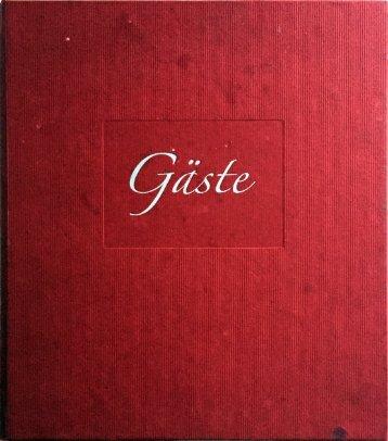 """Unser """"analoges"""" Gästebuch"""