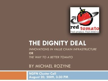 Innovations in Value Chain Infrastructure - Red Tomato