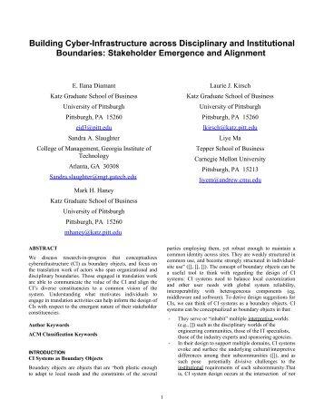 SIGCHI Conference Paper Format - E.Ilana Diamant