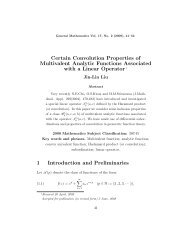 Certain Convolution Properties of Multivalent Analytic Functions ...