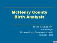 McHenry County Birth Analysis