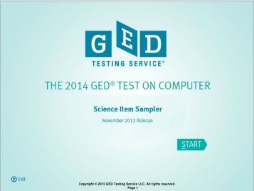Copyright © 2012 GED Testing Service LLC. All rights reserved ...