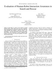 Evaluation of Human-Robot Interaction Awareness in Search and ...