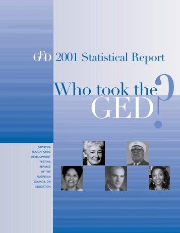 2001 GED Testing Program Statistical Report (PDF)