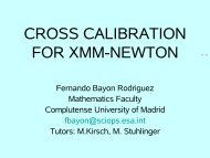CROSS CALIBRATION FOR XMM-NEWTON - ESAC Trainee Project