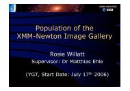 Population of the XMM-Newton Image Gallery - ESAC Trainee Project