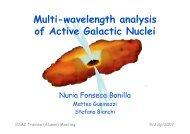 Multi-wavelength analysis with AGN - ESAC Trainees