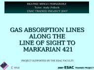 WHIMs along the line of sight to Markarian 421 - ESAC Trainee Project