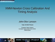 XMM-Newton MOS timing mode calibration - ESAC Trainee Project