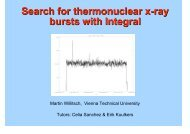 Search for thermonuclear x-ray bursts with Integral - ESAC Trainees