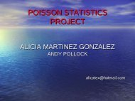 POISSON STATISTICS PROJECT - ESAC Trainees