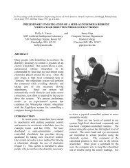 preliminary investigation of a semi-autonomous robotic