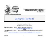 Learning Webs and Web 2.0