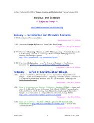January — Introduction and Overview Lectures February — Series ...