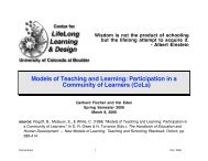 Models of Teaching and Learning: Participation in a Community of ...