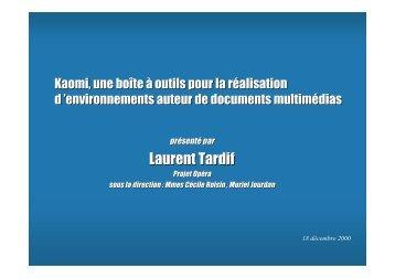 Laurent Tardif - Projet Opéra
