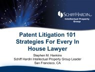 Patent Litigation 101 Strategies For Every In House Lawyer
