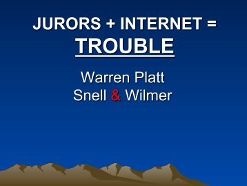 Jurors + Internet = Trouble