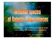 INTEGRAL spectra of Galactic Bulge sources - Trainee Project - ESA