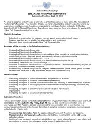 2013 AWARDS NOMINATION INSTRUCTIONS Submission Deadline