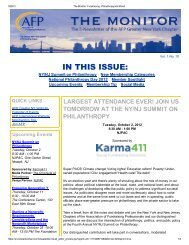 September 2012 - Association of Fundraising Professionals