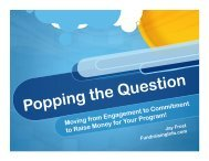 Popping The Question - Association of Fundraising Professionals