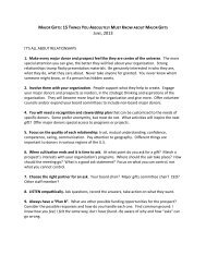15 Things You Absolutely Must Know (handout)