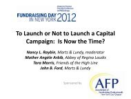 To Launch or Not to Launch a Capital Campaign: Is Now the Time?