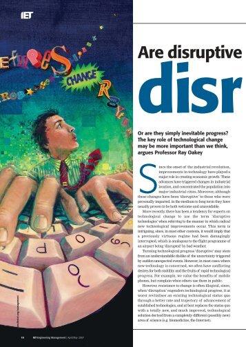 Are disruptive technologie - fields