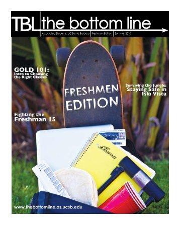 freshman edition 2010 - The Bottom Line UCSB - University of ...