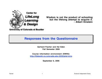 Albert Einstein Responses from the Questionnaire