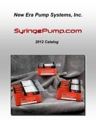 New Era Pump Systems, Inc. The NE-1000 Family of Syringe ... - NDN