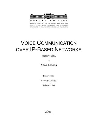 voice communication over ip-based networks - Quality of Service ...